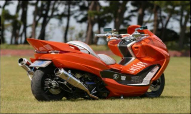 menarik dalam Monster-Bego (Modifikasi Motor Matic Gaya Jepang title=