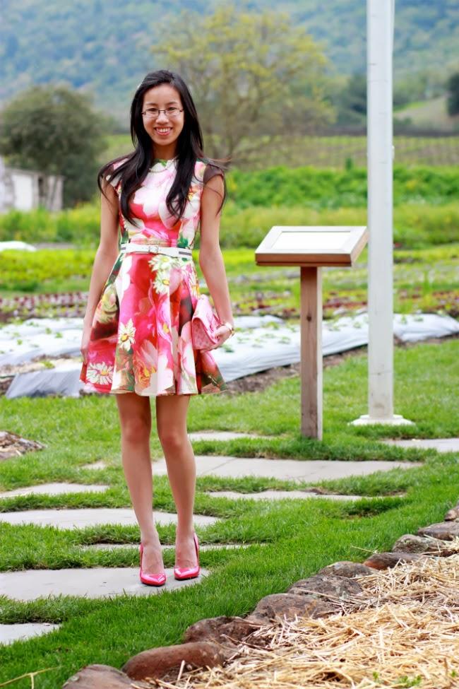 flare floral print spring summer dress
