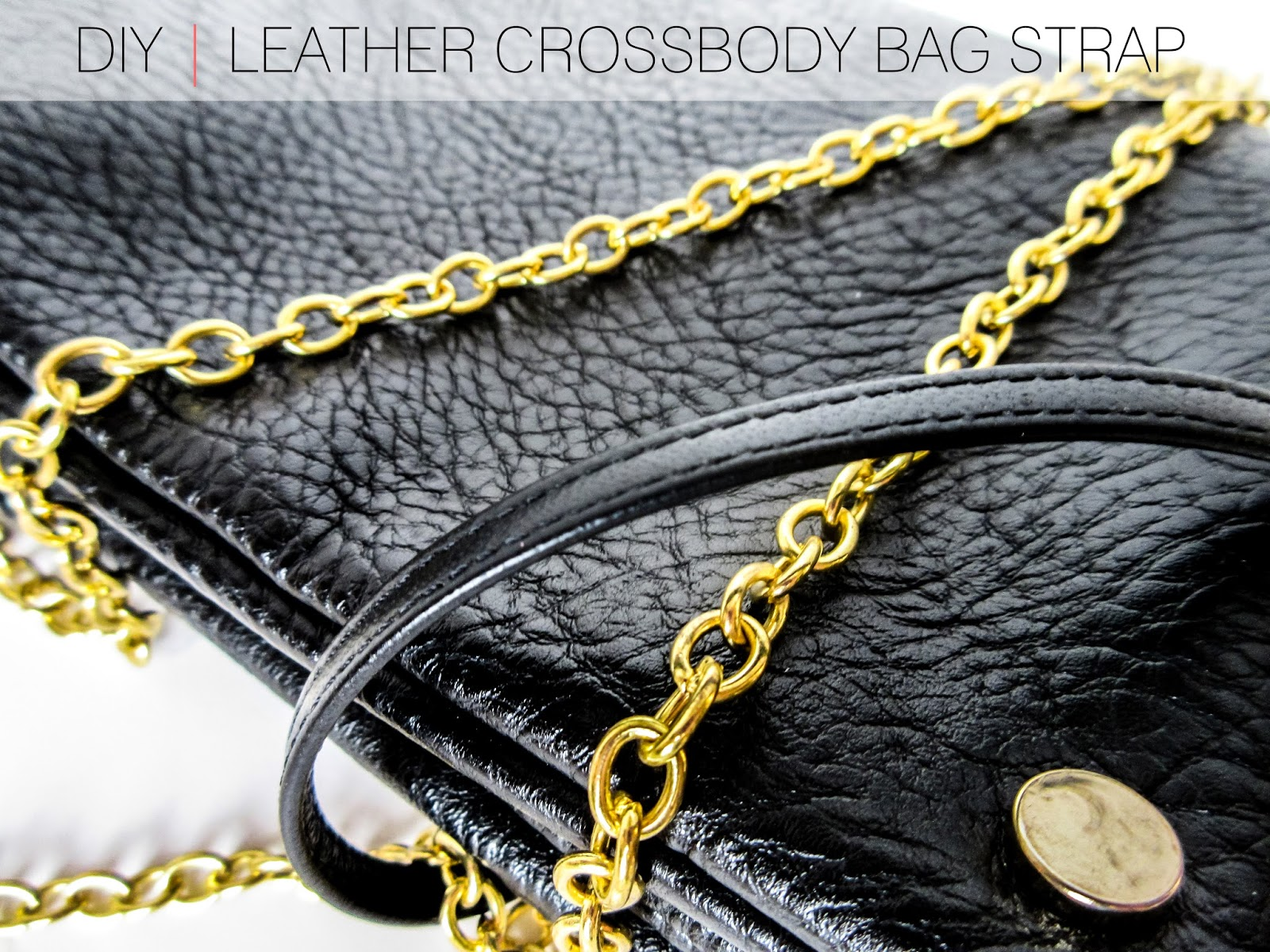 DIY Leather Chain Crossbody Bag Strap
