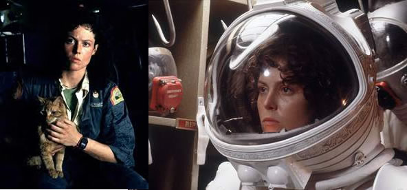 Alien 5 - Ripley with cat, Ripley astronaut, Sigourney Weaver