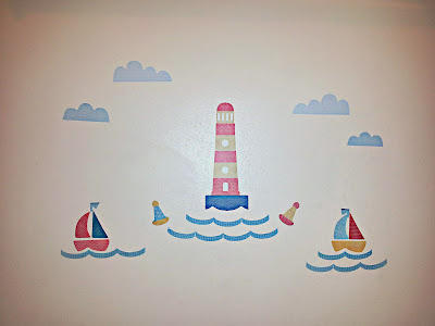 Wall Art, Lighthouse, Boats, Bathroom, Tinyme