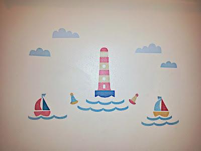 Wall Art, Lighthouse, Boats, Bathroom, Tinyme