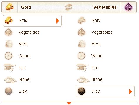 GoldenTowns proceso vender productos en el mercado