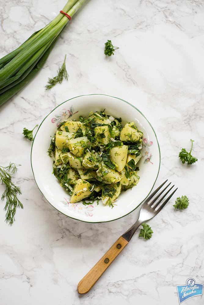 Sałatka ziemniaczana z ziołami