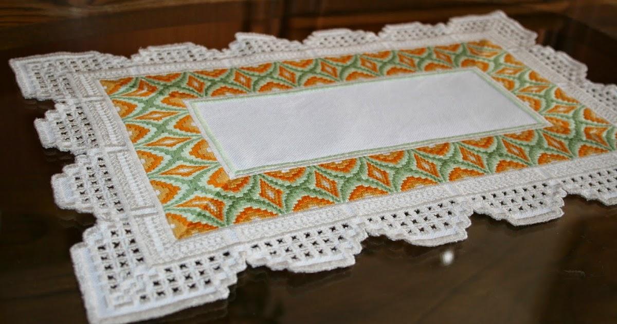 Вышивка хардангер салфетки 23