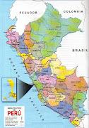 Mapa Político del Perú (mapa polãtico del perãº)