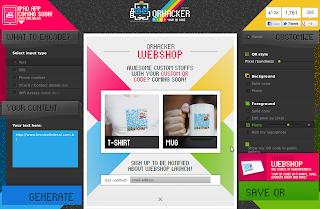 loja virtual para venda de materiais impressos com seu QR