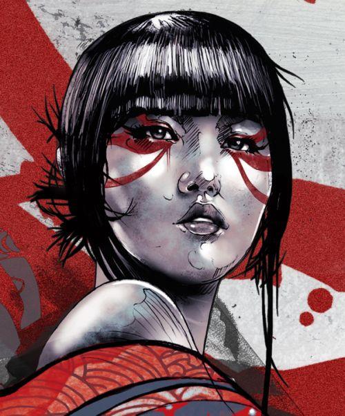 Kent Floris ilustrações incríveis arte Geisha mortal e sua espada
