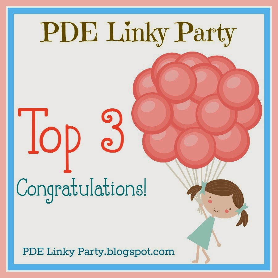 I made Top 3 over at PDE Linky Party