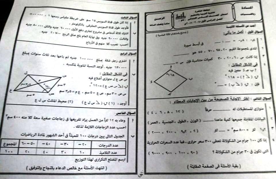 تجميعة شاملة كل امتحانات الصف السادس الابتدائى كل المواد لكل محافظات مصر نصف العام 2016 12552655_778763928933832_2725524741860076464_n