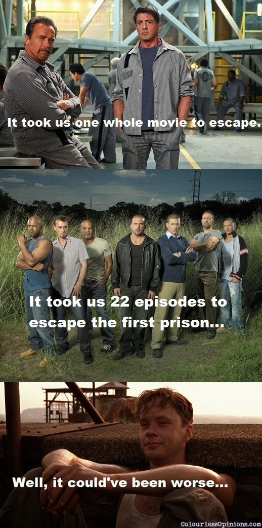 escape plan vs prison break vs shawshank redemption meme
