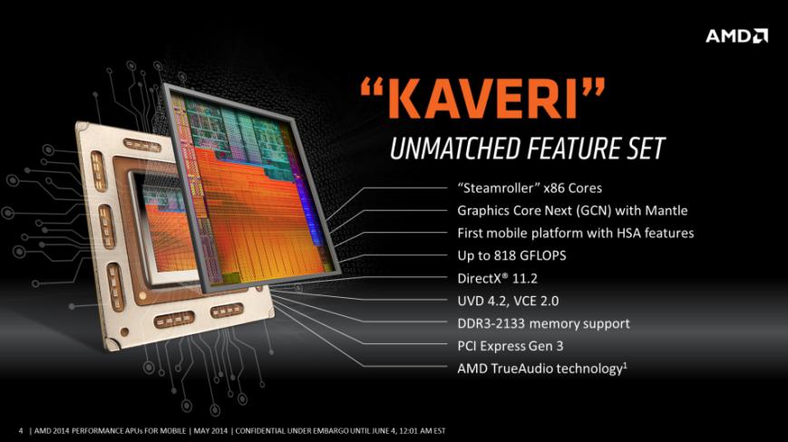 поддержка процессоров AMD Kaveri