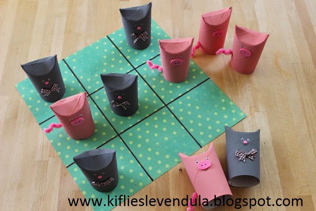 Macskák a malacok ellen - társasjáték papírgurigákból