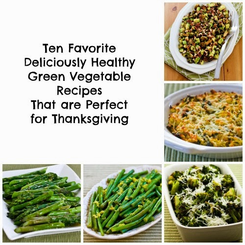 Ten Favorite Deliciously Healthy Green Vegetable recipes from Kalyn's Kitchen