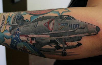 F-16 Jet Tatttoo