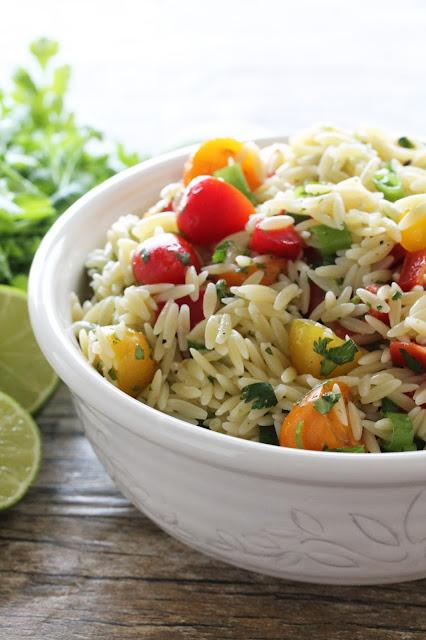 cilantro lime orzo pasta salad