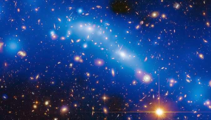 Répartition de masse des galaxies vue par Hubble
