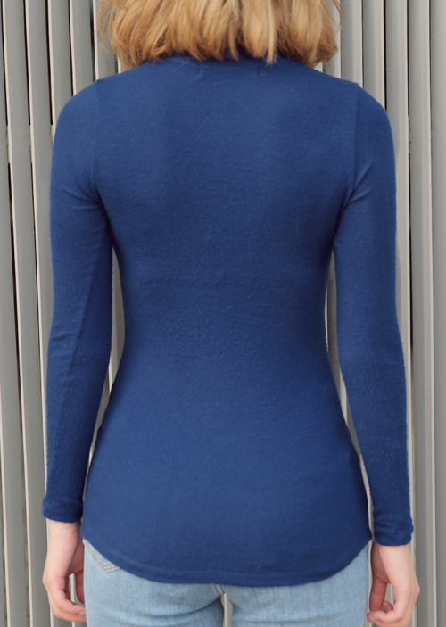 Slim Solid High Neck Top