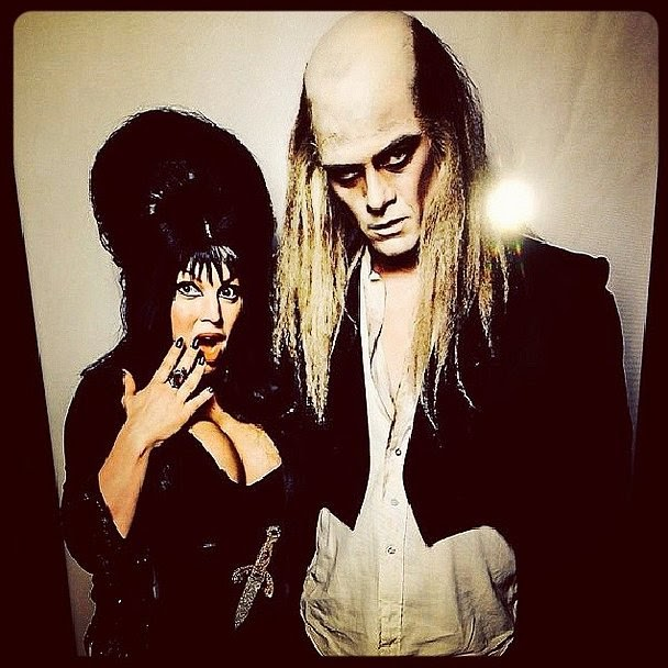Fergie and Josh Duhamel in costume on Halloween