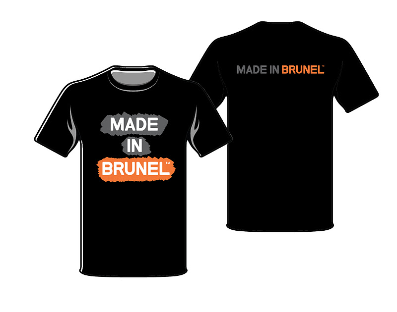 Art and design student made in brunel t shirt competition for Architecture student t shirts