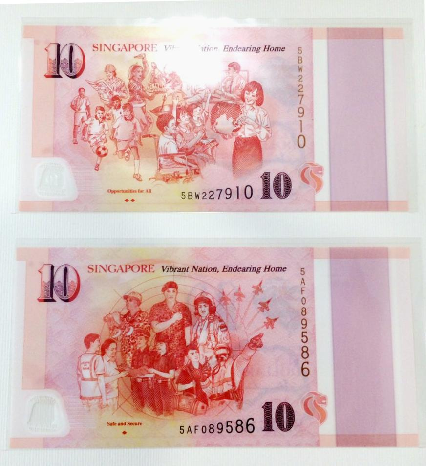 Commemorative currency note $10