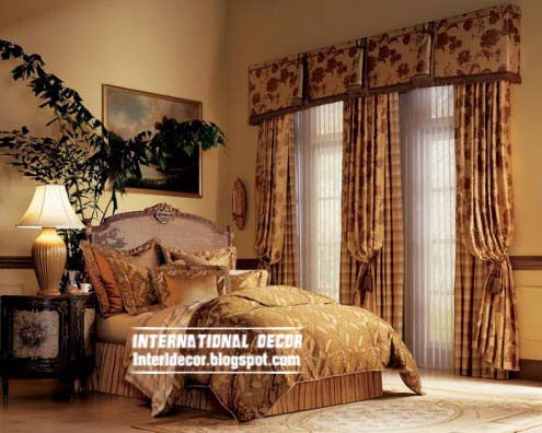 Unique bedroom curtain classic design 2015  floral curtain. 10 Latest Classic curtain designs style for bedroom 2015