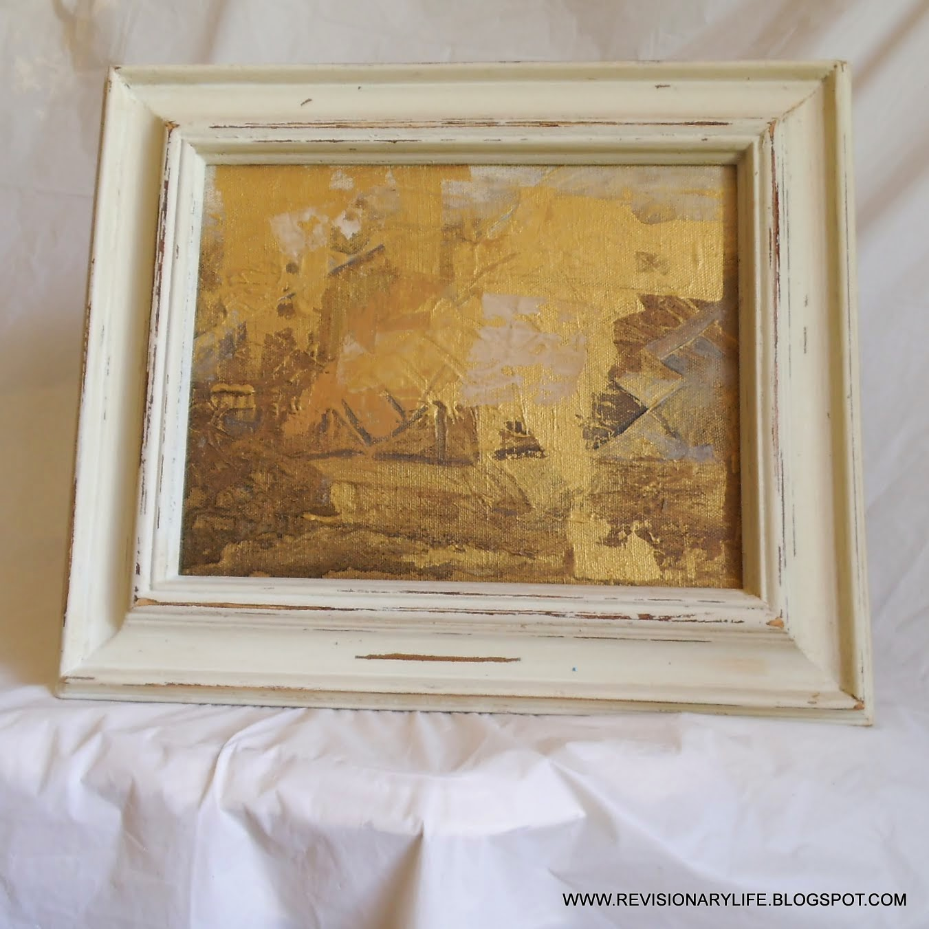 revisionary life contemporary artwork in vintage frames - contemporary artwork in vintage frames