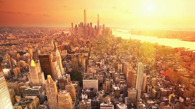 Sunset New York HD Wallpaper