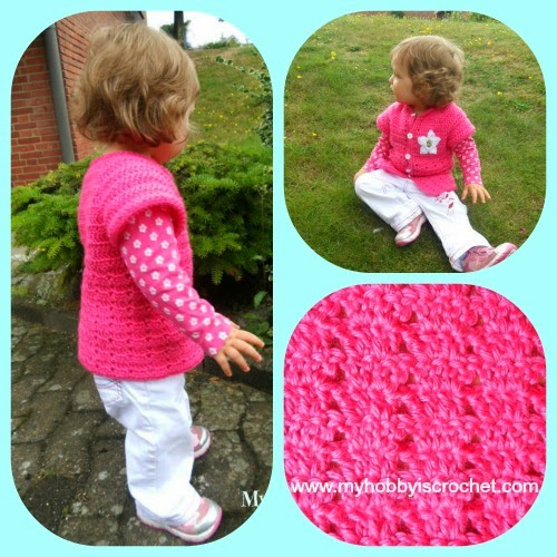 My Hobby Is Crochet Twin V Stitch Cardigan Toddler Size Free