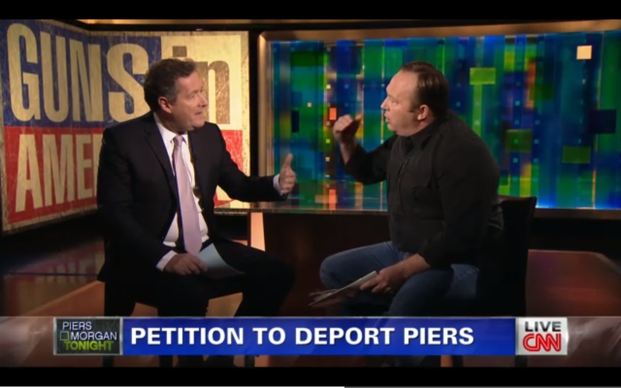 Alex Jones points fingers at Piers Morgan