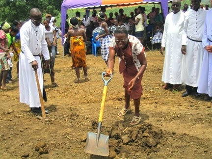 Sister Esther Adjoa Entsiwah, CSC, participates in groundbreaking ceremony for a new high school in Ghana, West Africa. www.cscsisters.org