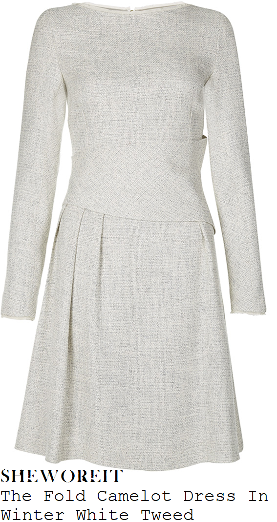 holly-willoughby-cream-white-tweed-dress-this-morning