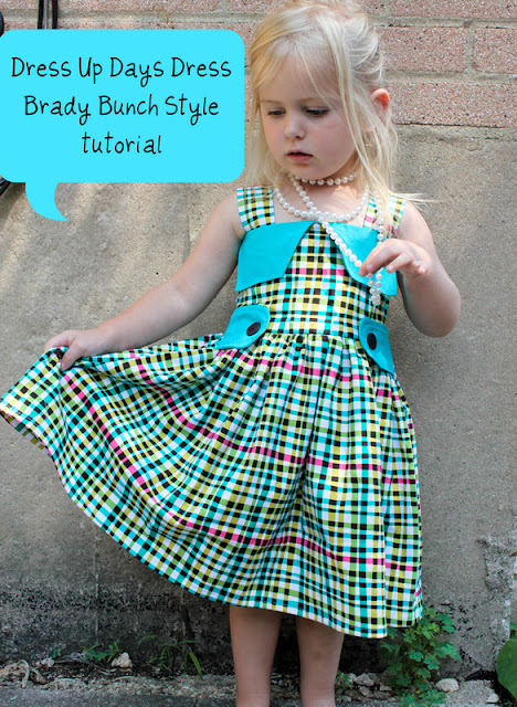Brady Bunch Style Dress Sewing Tutorial