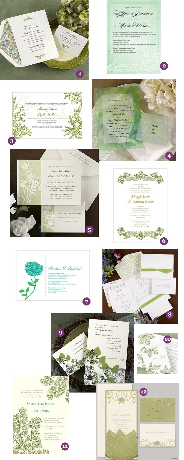 Green Wedding Invitations - Up to 35% Off - How Lucky! | Things ...