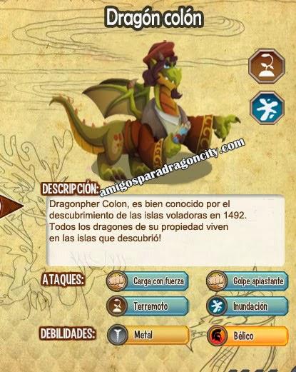 imagen de las caracteristicas del dragon colon