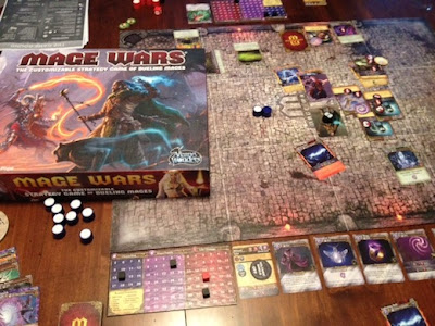 Mage Wars game in play