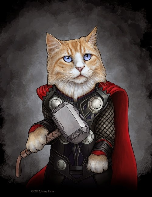 03-Thor-Jenny-Parks-Drawing-Animals-Superhero-Cats-Scientific-Illustrator-www-designstack-co