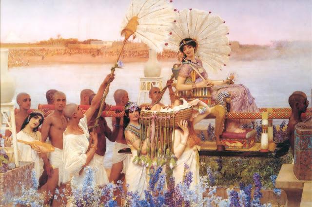 old testament, Moses,Lawrence Alma Tadema