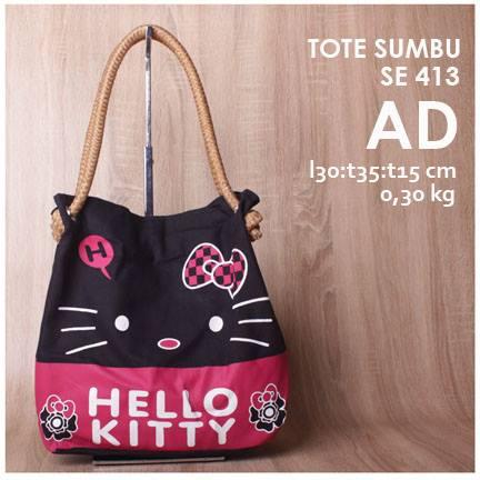 jual online tote bag tali sumbu lucu hello kitty murah
