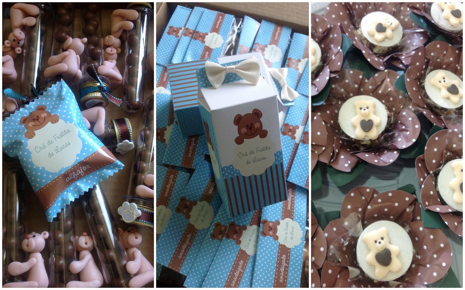 Preferência Dolce Vila: Mimos personalizados para chá de fralda - tema Urso  SV17