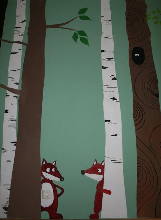 Kinderzimmer wandgestaltung wald  Carli: Mein Wald- lebt!