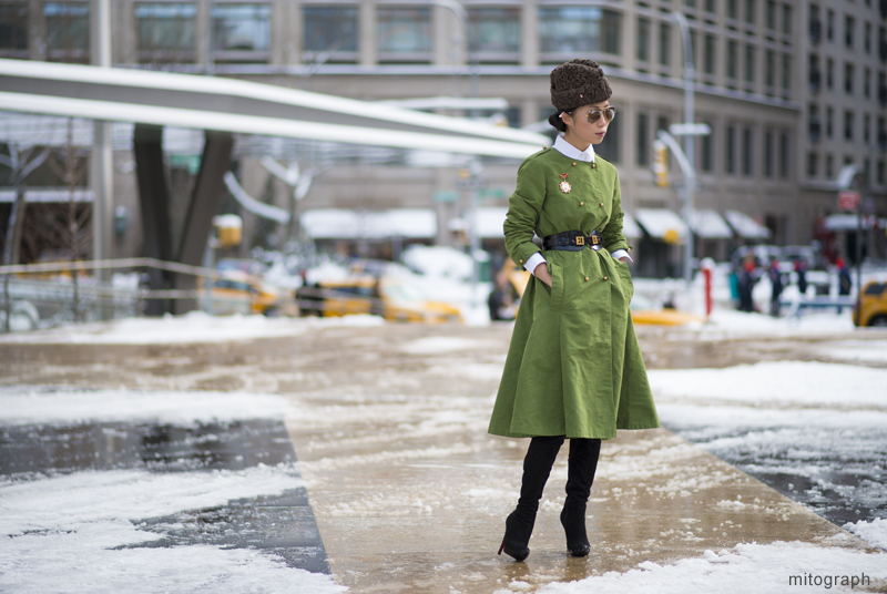 Oksana On At Lincoln Center New York Fashion Week 2013-2014 Fall Winter NYFW Street Style Shimpei Mito