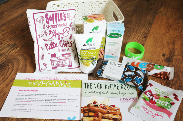 The Vegan Kind Lifestyle Box - January 2016 review #TVK27