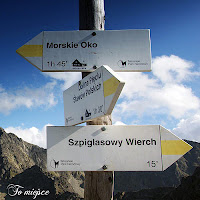 Szpiglasowa Przełęcz, szlak, szpiglas, znak