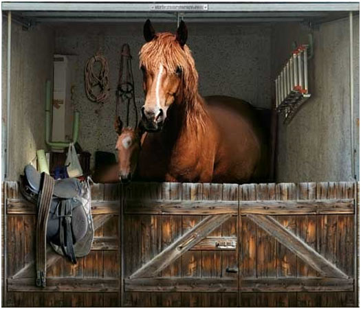 Garage Door Decoration Stickers:horse