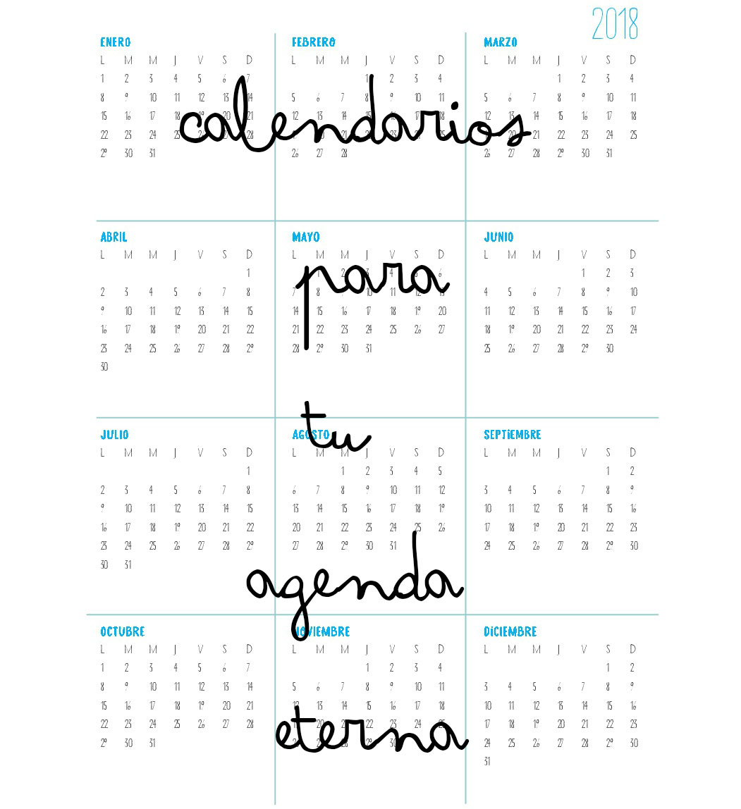 CALENDARIOS DESCARGABLES