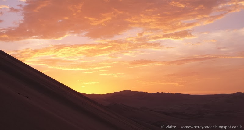 Sunset - Oasis of Huacachina - Peru