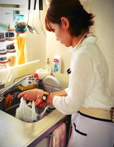 同じ保育園のママ友会にしぶちえシェフが出張エスニック料理:豊島区東長崎 片付け シェフ