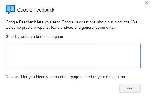 google-feedback
