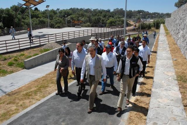 Avance en las obras de Parque Metropolitano y el río Atoyac